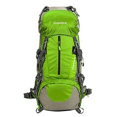 Suretex Hiking Camping Outdoor Backpack External Frame Waterproof Backpacking pack with Rain cover Detachable Unisex: Sports & Outdoors Best Hiking Backpacks, Best Travel Backpack, Trekking, Outdoor Backpacks, Mountaineering, North Face Backpack, Camping, Unisex, Sports
