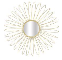 #homedecor #interiordesign #decoration #decorativemirror Style Retro, Daisy, Console Style, Interior Design, Place, Metal, Dimensions, Glamour, Home Decor