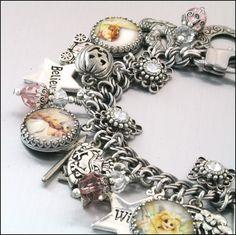 Silver Charm Bracelet Glinda the Good Witch by BlackberryDesigns, $87.00