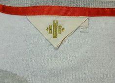 HWR Monogram Anthropologie White with Gray Polka Dot Crewneck Sweater Size Small