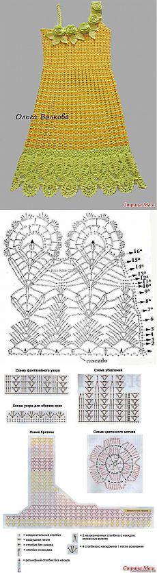 Crochet Dress Flower Link 55 Ideas For 2019 Crochet Chart, Crochet Stitches, Irish Crochet, Crochet Lace, Crochet Designs, Crochet Patterns, Cardigan Au Crochet, Crochet Skirts, Crochet Baby Clothes
