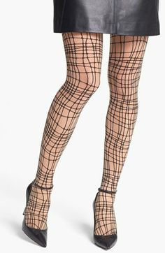 Wolford 'Spider Check' Tights available at #Nordstrom