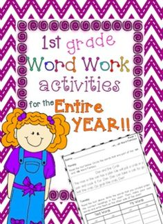 This product offers 30 weeks of Word Work, from Monday through Thursday each week. You can use it to teach word work lessons, as one of your literacy centers, or as homework. Each lesson has two pages that can be printed front and back.One of the features that makes this product unique are the short stories!