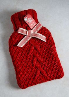 Knitted Hot Water Bottle (37cm x 21.5cm) View 1