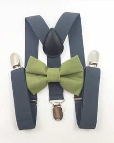 cac9f6865c1 Bow Ties and Suspenders are the perfect groomsmen and ring bearer  accessories! With hundreds of color combinations