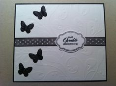 Cathy's World of Scrap: Rouwkaart. Fun Fold Cards, Folded Cards, Diy Cards, Diy And Crafts, Paper Crafts, Black And White Theme, Embossed Cards, Condolences, Sympathy Cards