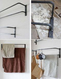 ≪DIY素材≫【アイアン製 マルチホルダーストレートタイプ W600 1個 単品】 My Furniture, Wardrobe Rack, Metal Working, Shelving, Diy Home Decor, Iron, Bathroom, Simple, Interior