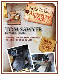BRAND NEW! Sensory, hands-on ways to bring this great book to life: full-color prop suggestions, activity ideas, takeaway topics and handouts with keys! Reading Lesson Plans, Reading Lessons, Reading Strategies, Middle School Novels, Middle School History, Composition Writing, Adventures Of Tom Sawyer, Mark Twain, Activity Ideas
