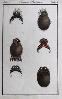 Costumes Parisiens 1816 Haarteile Frisuren Hairpiece Wigs