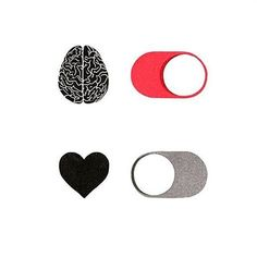 Imagine heart, brain, and on