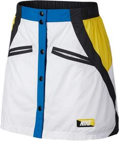 Women's Nike Woven Moto Skirt Women's Nike Woven Moto Skirt Inspired by Moto Cross, this woven skirt features a button-down front, and stylish color blocking. Womens Workout Outfits, Sport Outfits, Cute Outfits, Athletic Skirts, Nike Skirts, Outdoor Outfit, Fashion Wear, Fashion Outfits, White Nikes