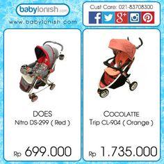Dapatkan stroler menarik ini untuk mengajak si kecil jalan-jalan. Tersedia dalam berbagai warna. Hanya di www.babylonish.com