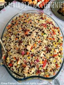 Rice cool two-tone with vegetables and surimi -- Riso freddo bicolore con verdurine e surimi Beef Recipes For Dinner, Wine Recipes, Rice Salad Recipes, Dinner With Ground Beef, Quinoa Rice, Party Buffet, Antipasto, Street Food, Macaroni And Cheese