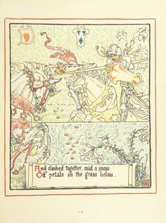 Image taken from page 37 of 'Queen Summer; or, the Tourney of the lily & the rose. Penned & portrayed by Walter Crane' | by The British Library