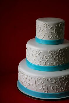 Wedding Cake Blue Ribbon | blue ribbon wedding cake this cake was created for a blue and brown ...