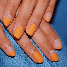 Matt orange 🥵 Dream summer nails 🌞 Bronze level gel nail art via Gel Nails At Home, Gel Nail Art, Nail Polish, Matte Gel Nails, Minimalist Nails, Do It Yourself Nails, How To Do Nails, Cute Nails, Pretty Nails
