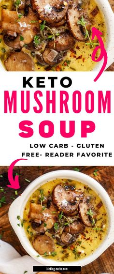 Looking for the best ever Keto Mushroom Soup? This is it! You can make this delicious recip on the weekend for meal prep. With earthy mushrooms, perfectly balanced seasonings, and cream cheese, this easy recipe is a crowd pleaser!