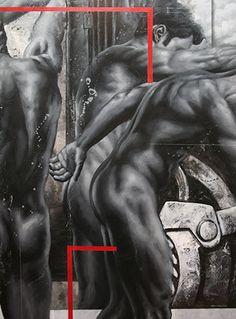 Monocromias del artista hondureño Hendry Misael Rivera