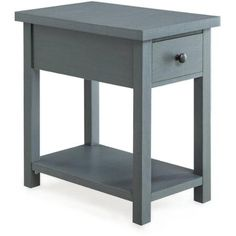 Better Homes and Gardens Furniture End Table with Drawer, Blue - Walmart.com