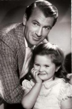 Gary Cooper with daughter Maria - c.1941-1942