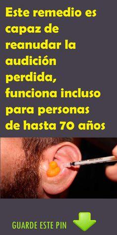 Este remedio es capaz de reanudar la audición perdida, funciona incluso para personas de hasta 70 años. #remedio #audición #personas