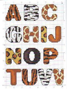 Alphabet animal x-stitch