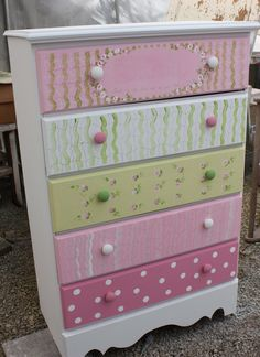 chest of drawers repurposing ideas | chest of drawers for Candance.So glad to have them finished.