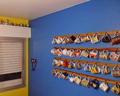 Idéias do vizinho - expor sua coleção na parede