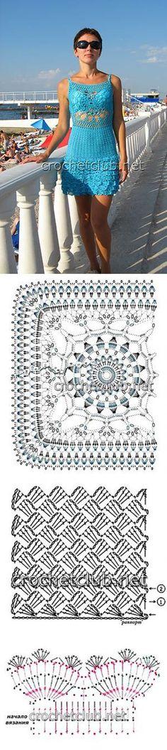 Luty Artes Crochet: vestidos de crochê