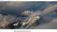 The New York Times — Snowfall http://www.nytimes.com/projects/2012/snow-fall/#/?part=tunnel-creek