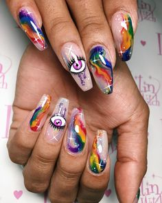15 Shaped Stylish Nails Colors To Get You Inspired To Try Gothic Nails, Nails Only, Bright Nails, Diy Nail Designs, Glam Nails, Fire Nails, Best Acrylic Nails, Stylish Nails, Halloween Nails