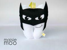 Batman Tooth Pillow Sewing Pattern Felt Pattern by MaisieMooNZ