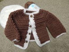 Jersey , saco de bebe a crochet muy fácil y rápido - YouTube