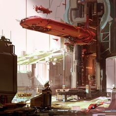 Nicolas Bouvier aka Sparth creates stunning science fiction themed artwork and illustrations for the video game industry and publishing. Sci Fi Environment, Environment Design, Star Wars Karikatur, Sci Fi Stadt, Science Fiction Kunst, Sci Fi City, Steampunk, Best Sci Fi, Futuristic City