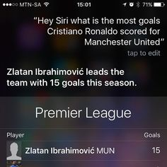 Even Siri knows not to talk about the past @iamzlatanibrahimovic @manchesterunited  #soccer #football #sport #ball #pitch #goal #score #kick #kicking #game #crowd #fan #fans #club #play #playing #fun #footballgame #footballplayer #sports #grass #green #net #player #instasport