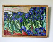 Mosaic, Stained Glass Irises After Van Gogh