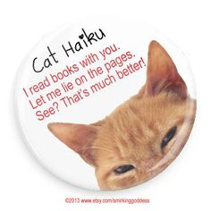 Fridge Magnet Funny Cat MagnetHaiku by SmirkingGoddess on Etsy, $3.00