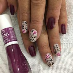 Uñas Burgundy Nails, Red Nails, Hair And Nails, Winter Nails, Summer Nails, Garra, Toe Nail Designs, Flower Nails, Nail Arts