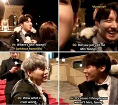 At least the truth comes out xD and Suga loves Hobi too much to actually get offended by something like that ^^ I ♡ sope