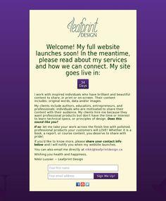 The website 'leafprintdesign.ca' courtesy of @Pinstamatic (http://pinstamatic.com)