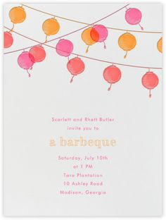 Paperless Post - Invitations - Summer - BBQ and Picnic