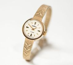Cocktail watch minimal gold plated women's watch by SovietEra