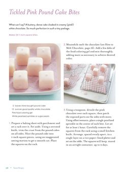 Tickled Pink Pound Cake Bites for National Pound Cake Day {Sneak Peek of Sweet Designs Book} « SWEET DESIGNS – AMY ATLAS EVENTS
