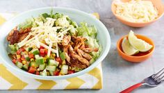Chicken Burrito Bowl via @iquitsugar