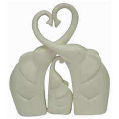 Elephant family love heart