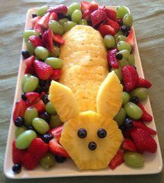 Easter Pineapple Fruit Bunny