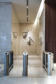 Entrance Corridor at China Square Central, Singapore by DP Design