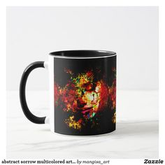 abstract sorrow multicolored art print for mug