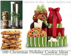 100 Christmas Holiday Cookie Ideas {traditional & modern recipes} Saturday Inspiration & Ideas - bystephanielynn