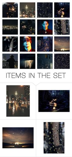 """City Lights"" by taeangel ❤ liked on Polyvore featuring art, birthday, kpop, vixx, hongbin and leehongbin"
